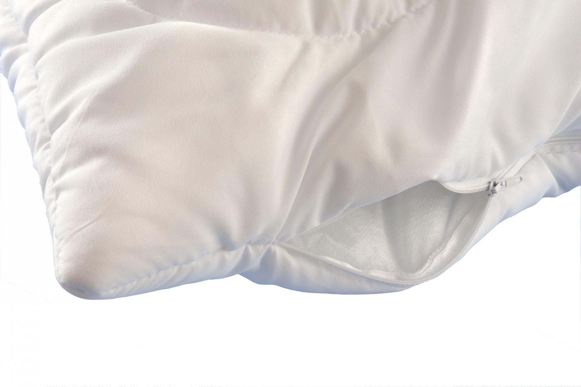 Korpus polštář prošívaný 70x90cm zip - bez výplně bílý