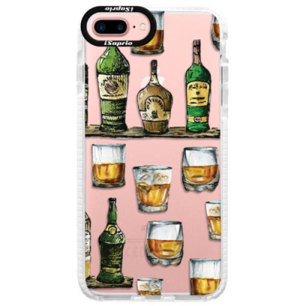 Silikonové pouzdro Bumper iSaprio - Whisky pattern - iPhone 7 Plus