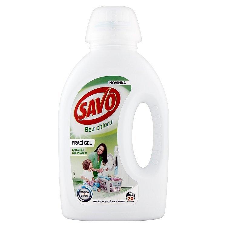 Bez chloru prací gel na barevné i bílé prádlo 1 l (20 praní)