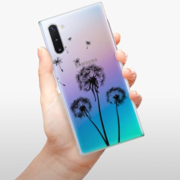 Plastové pouzdro iSaprio - Three Dandelions - black - Samsung Galaxy Note 10