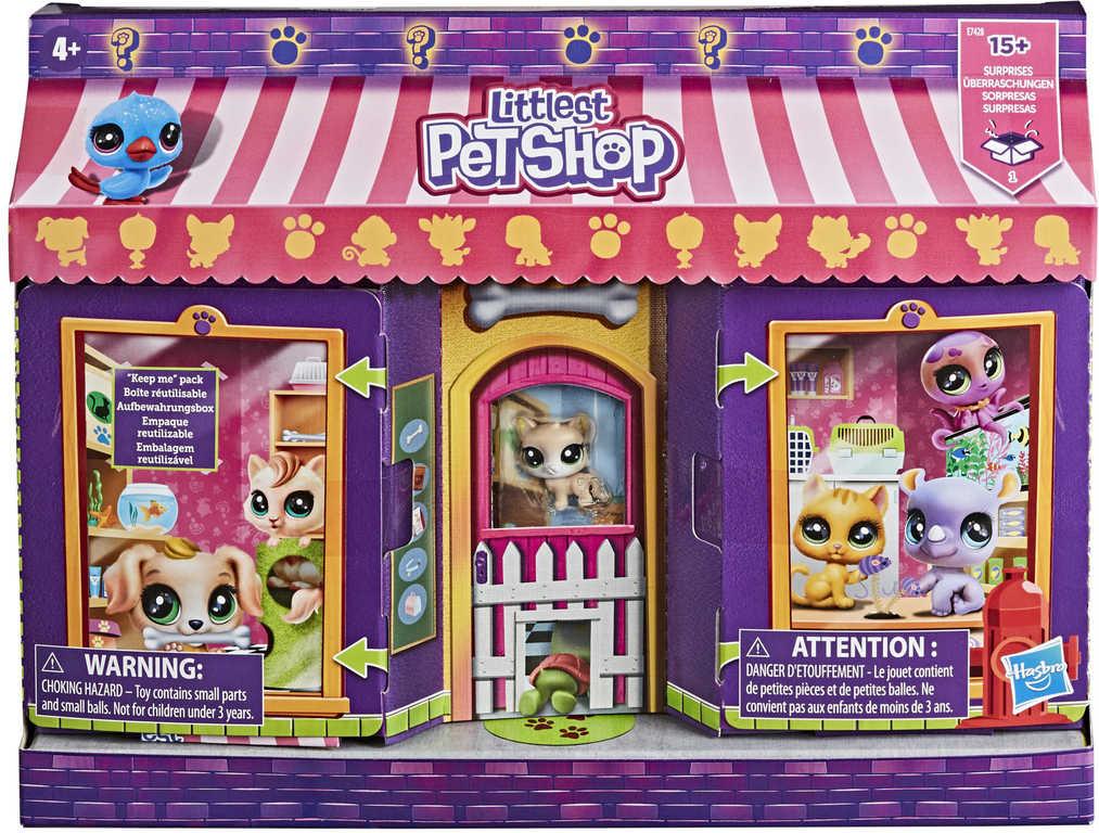 HASBRO LPS Mega set obchod se zvířátky Littlest Pet Shop s doplňky a nálepkami