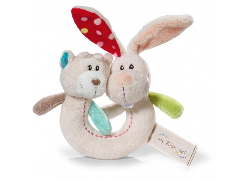 NICI - Chrastítko králík s medvídkem