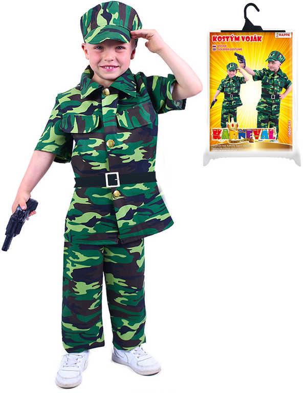 KARNEVAL Šaty voják vel.M (116-128 cm) 6-8 let maskáčový KOSTÝM