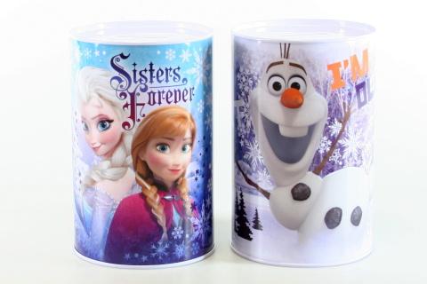 Plechová 2 druhy pokladnička velká Frozen