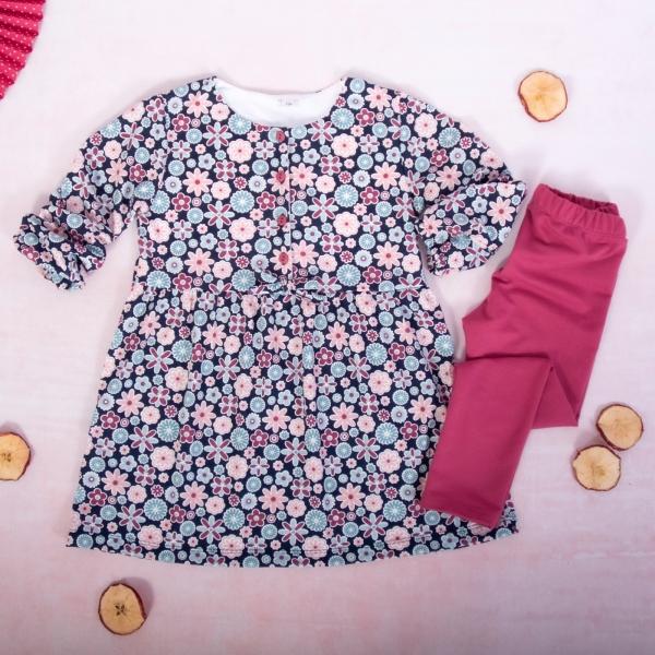 K-Baby 2 dílná sada - šaty + legíny