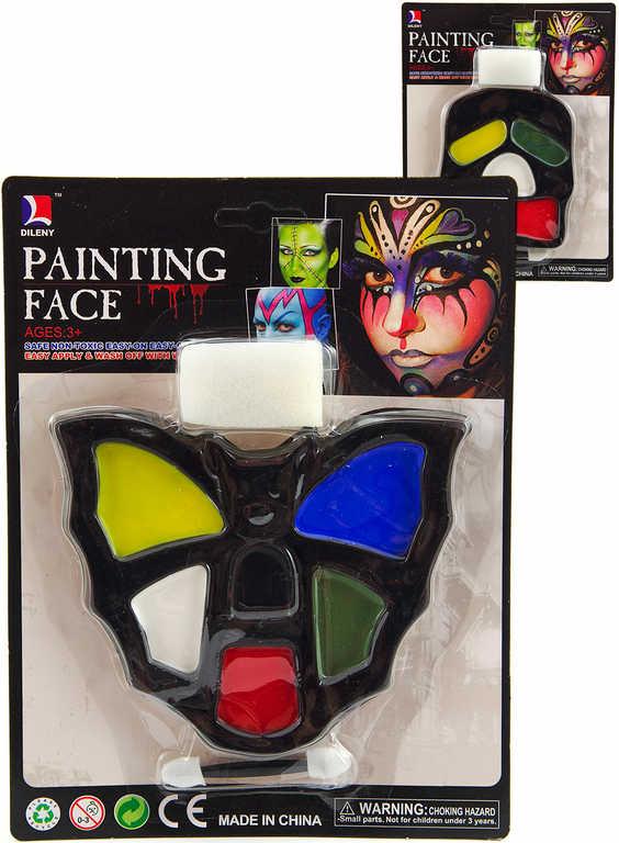 KARNEVAL Sada barvy dětské obličejové na kartě 6 druhů