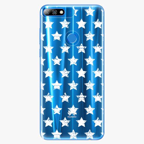 Silikonové pouzdro iSaprio - Stars Pattern - white - Huawei Y7 Prime 2018
