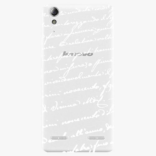 Plastový kryt iSaprio - Handwiting 01 - white - Lenovo A6000 / K3