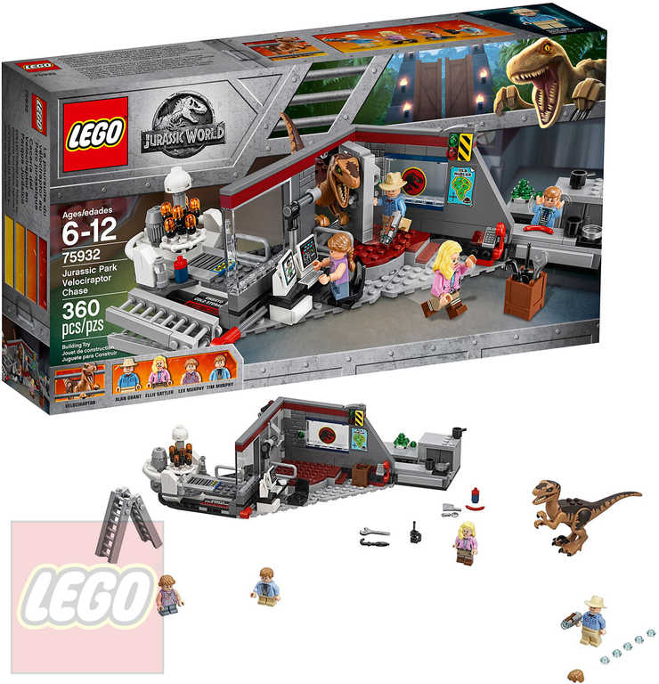 LEGO JURSKÝ SVĚT Hon na Velociraptora 75932 STAVEBNICE