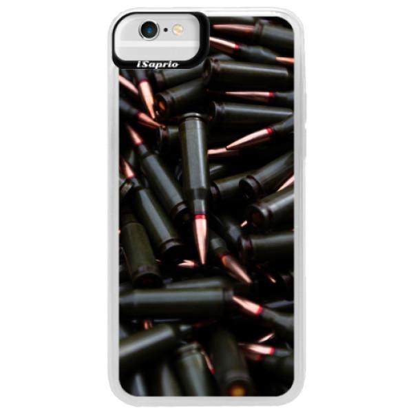 Neonové pouzdro Blue iSaprio - Black Bullet - iPhone 6/6S