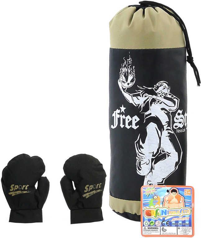 Sada boxovací pytel 19x19x37cm + rukavice boxerské 1 pár