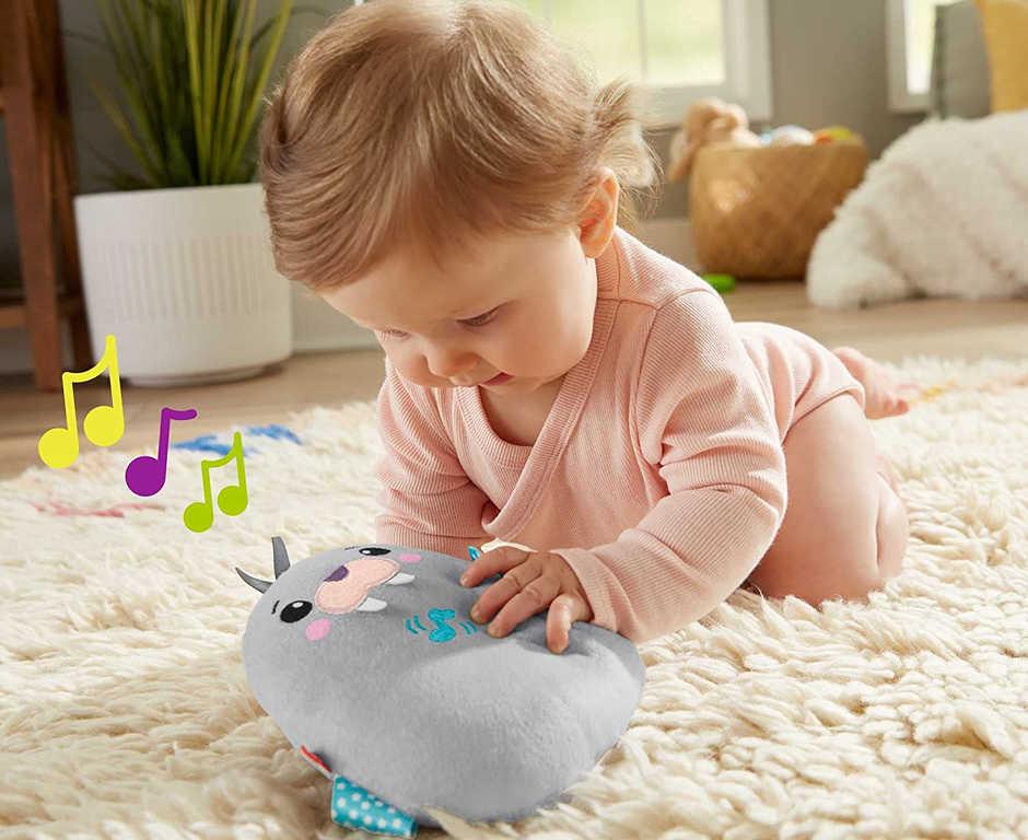 FISHER PRICE Baby mrož usínáček s melodiemi na baterie pro miminko plyš Zvuk
