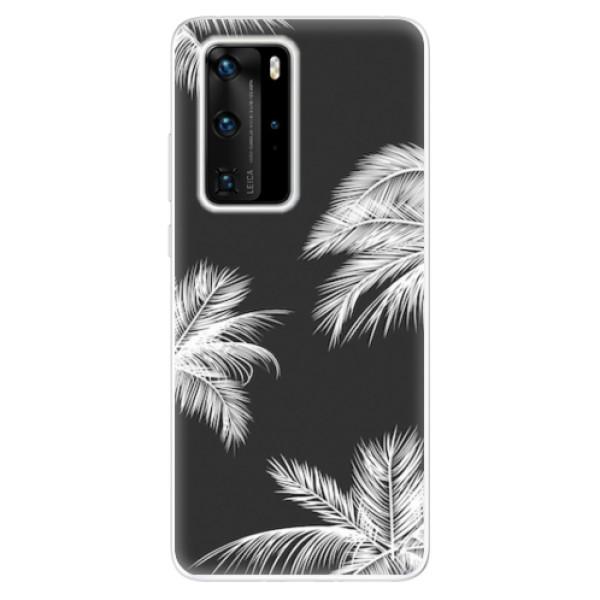 Odolné silikonové pouzdro iSaprio - White Palm - Huawei P40 Pro