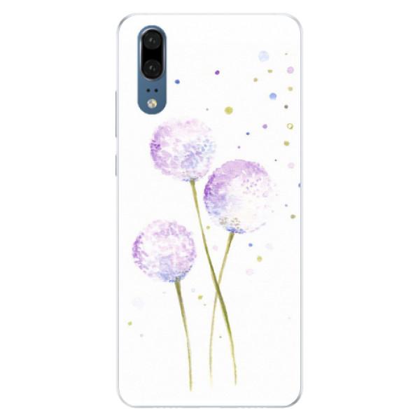 Silikonové pouzdro iSaprio - Dandelion - Huawei P20