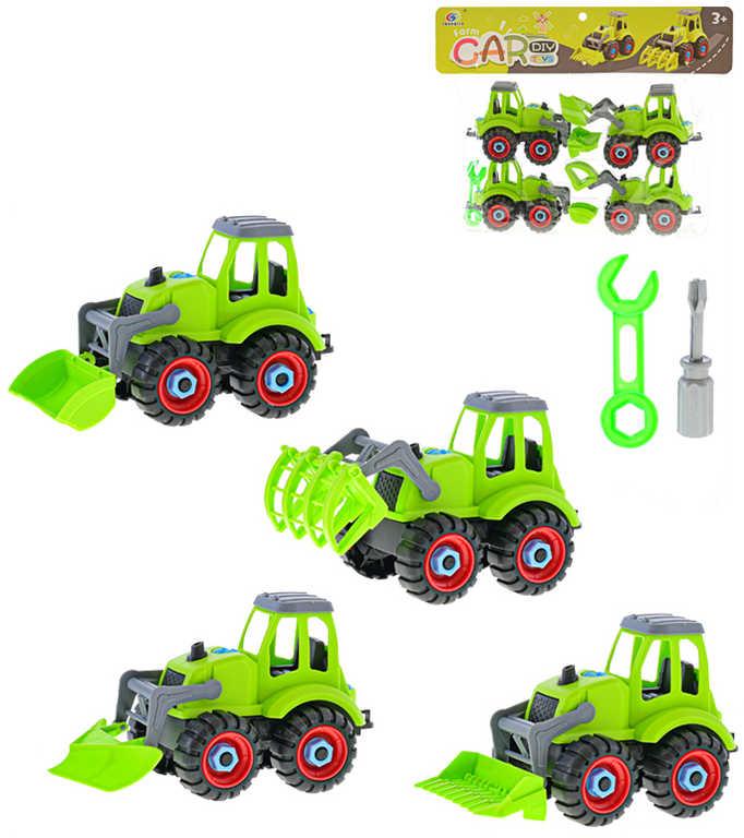 Traktor šroubovací 16cm volný chod set 4ks s nářadím v sáčku plast