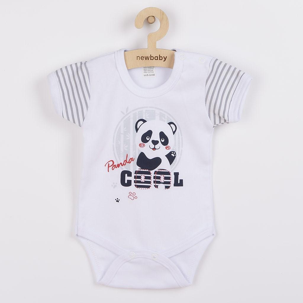 Kojenecké body s krátkým rukávem New Baby Panda