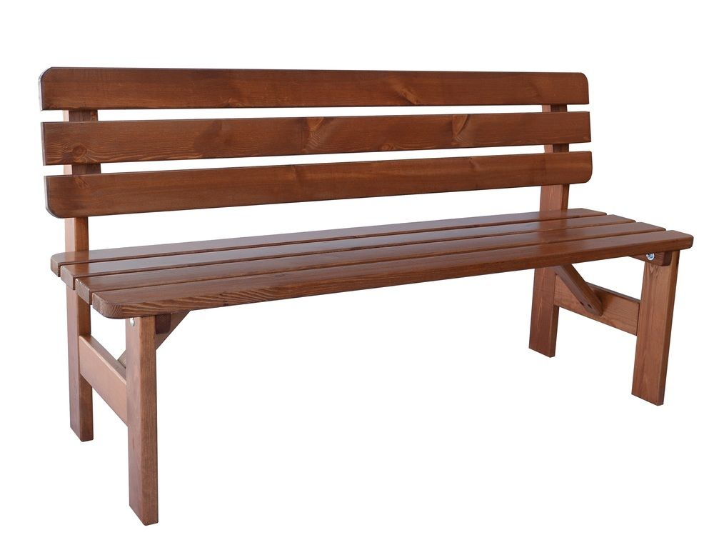 Zahradní dřevěná lavice Viking - 180 cm, lakovaná