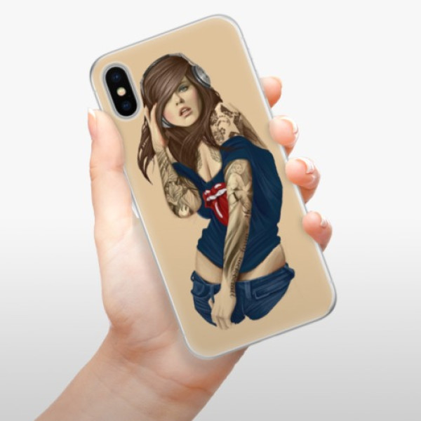 Silikonové pouzdro iSaprio - Girl 03 - iPhone X