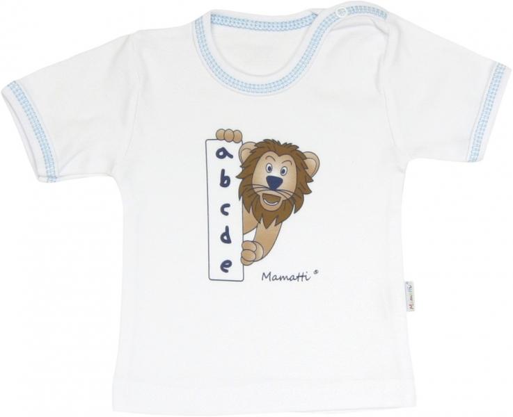 Bavlněné tričko Lev proužek - krátký rukáv, roz.