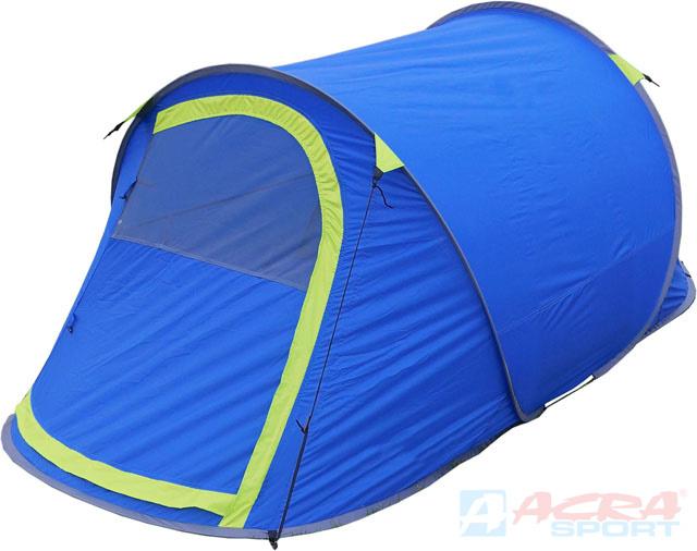 ACRA Stan samostavěcí pro 2 osoby modrý jednoplášťový 230x125x100cm