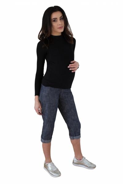 Be MaaMaa Těhotenské 3/4 kalhoty s elastickým pásem