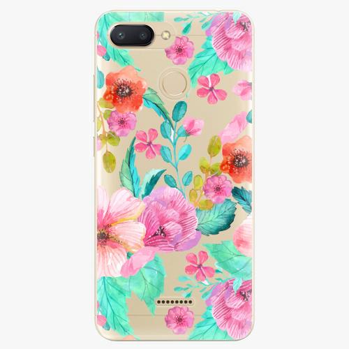 Silikonové pouzdro iSaprio - Flower Pattern 01 - Xiaomi Redmi 6