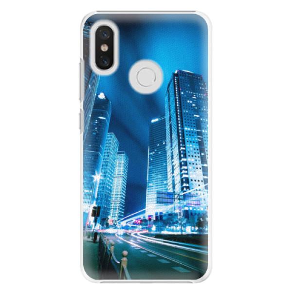 Plastové pouzdro iSaprio - Night City Blue - Xiaomi Mi 8