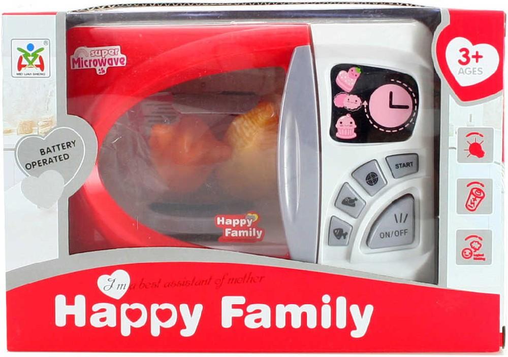 Mikrovlnná trouba dětská 18 cm set s potravinami na baterie