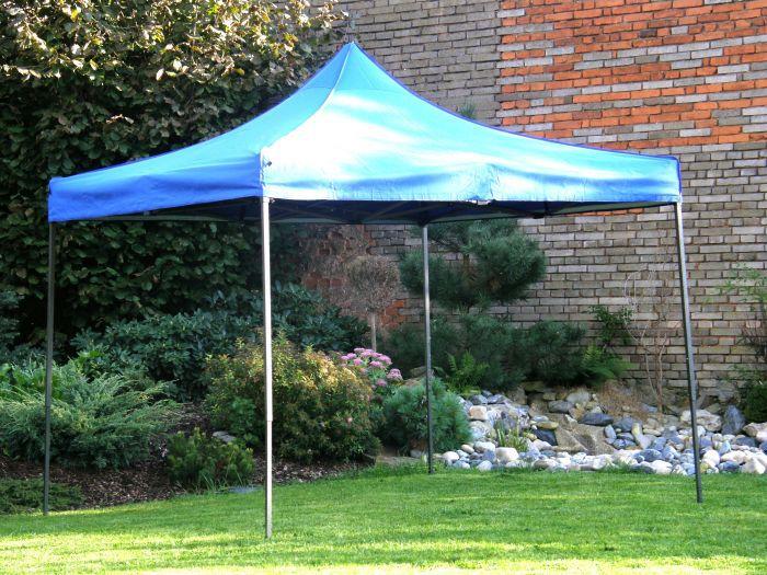 Zahradní  párty přístřešek DELUXE nůžkový - 3 x 3 m modrá