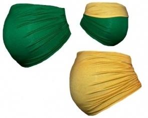 Be MaaMaa Těhotenský pás DUO - zelená se