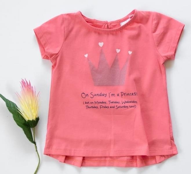K-Baby Dětské bavlněné triko, krátký rukáv - Princess - růžové
