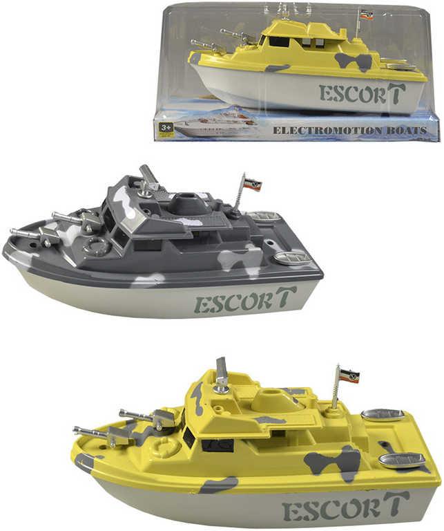 Loď na baterie 19 cm člun do vody - 4 barvy