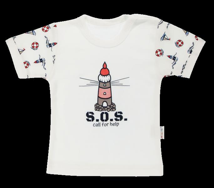 Bavlněné tričko Mamatti Maják krátký rukáv