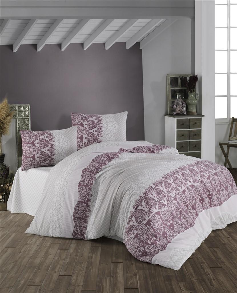Povlečení francouzské bavlna 220x200,70x90 Madelaine bordo, Výběr zapínání: