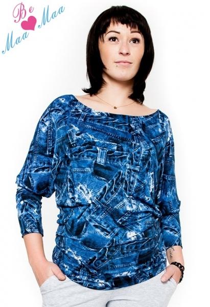 be-maamaa-tehotenske-stylove-triko-halenka-s-jeans-vzorem-l-xl