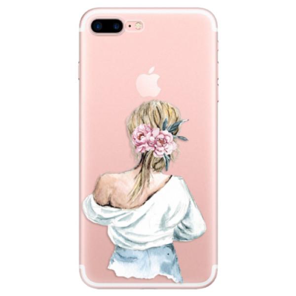 Odolné silikonové pouzdro iSaprio - Girl with flowers - iPhone 7 Plus
