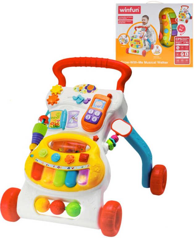 Baby chodítko 54cm s piankem a telefonkem na baterie Světlo Zvuk pro miminko