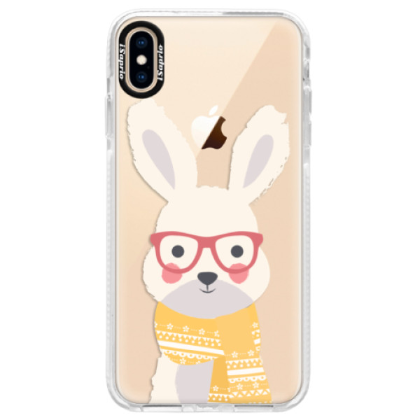 Silikonové pouzdro Bumper iSaprio - Smart Rabbit - iPhone XS Max