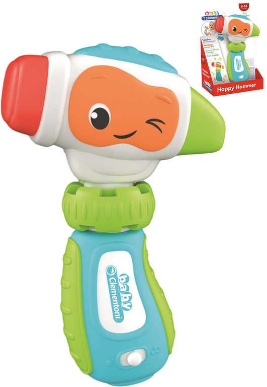 CLEMENTONI Baby Moje první kladívko na baterie Světlo Zvuk pro miminko