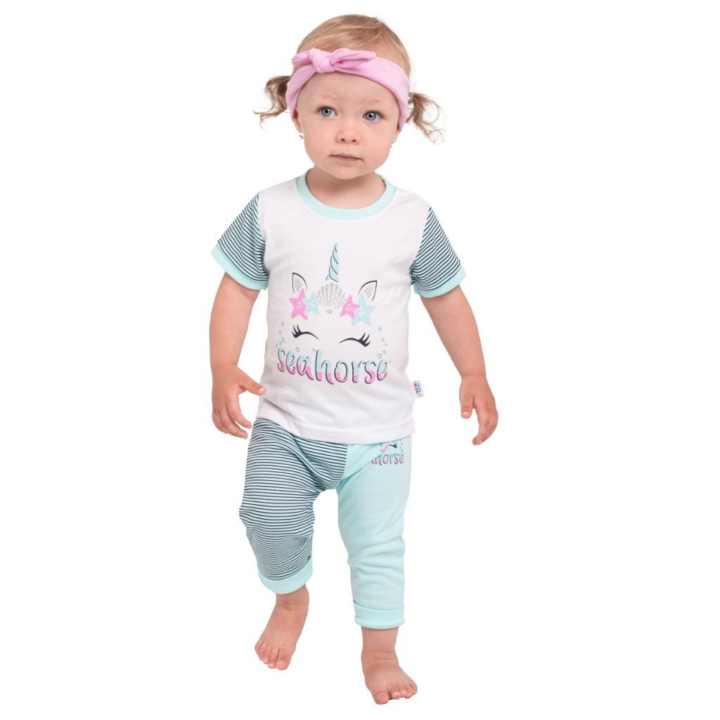 Kojenecké tričko s krátkým rukávem a tepláčky New Baby seahorse - zelená/68 (4-6m)