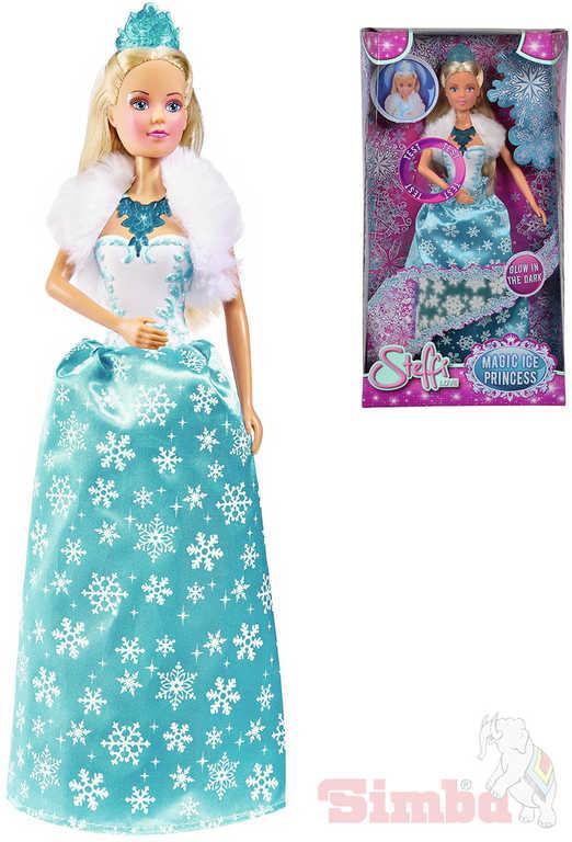 SIMBA Panenka Steffi Magic Ice ledová princezna svítí ve tmě