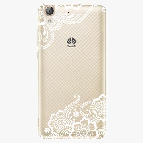 Plastový kryt iSaprio - White Lace 02 - Huawei Y6 II