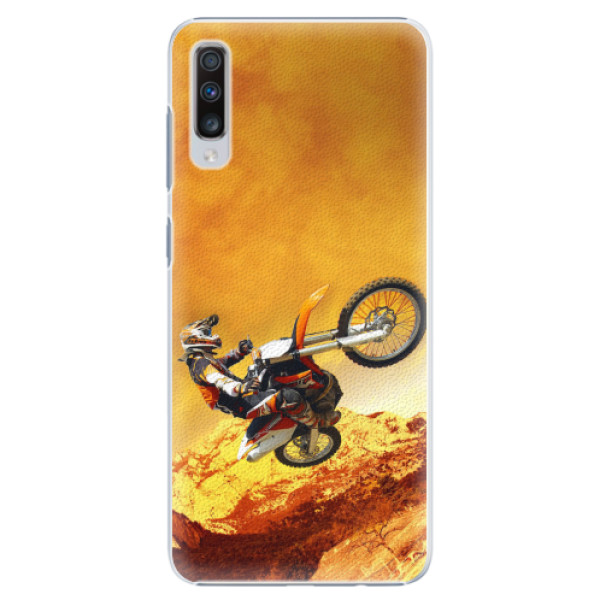 Plastové pouzdro iSaprio - Motocross - Samsung Galaxy A70