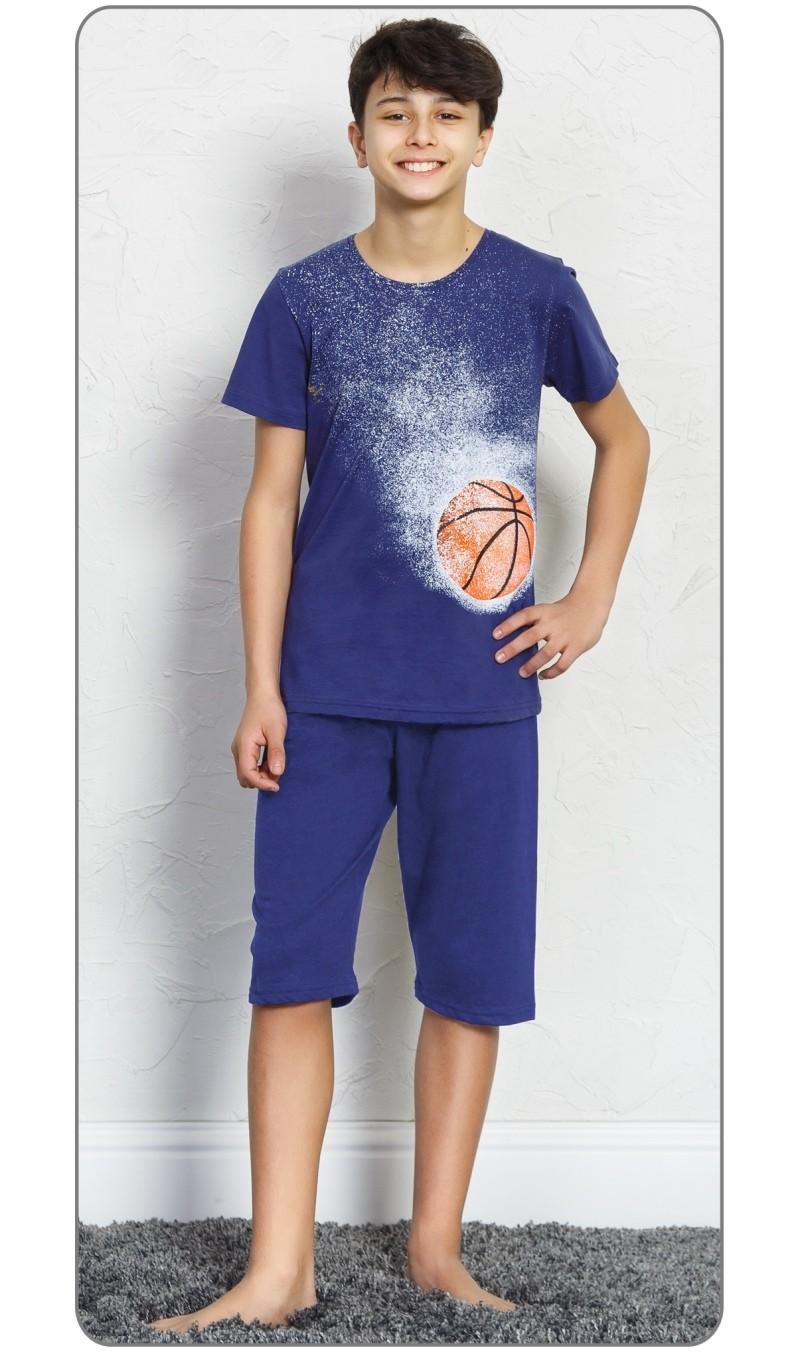 Dětské pyžamo kapri Basketball - Tmavě šedá 9 - 10