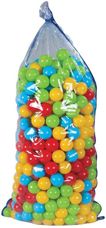 Baby lehké míčky barevné plastové 6cm set 500ks do hracího koutku do bazénku