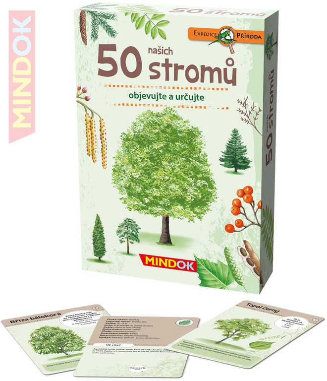 MINDOK HRA kvízová Expedice Příroda: 50 našich stromů naučná