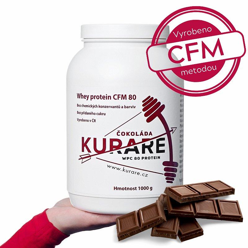 Kurare WPC 80 CFM protein - Čokoláda - Doprodej s datem spotřeby 03/2021