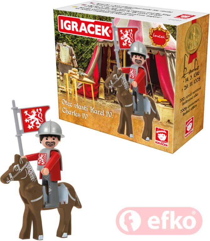 EFKO IGRÁČEK Karel IV figurka speciální edice STAVEBNICE