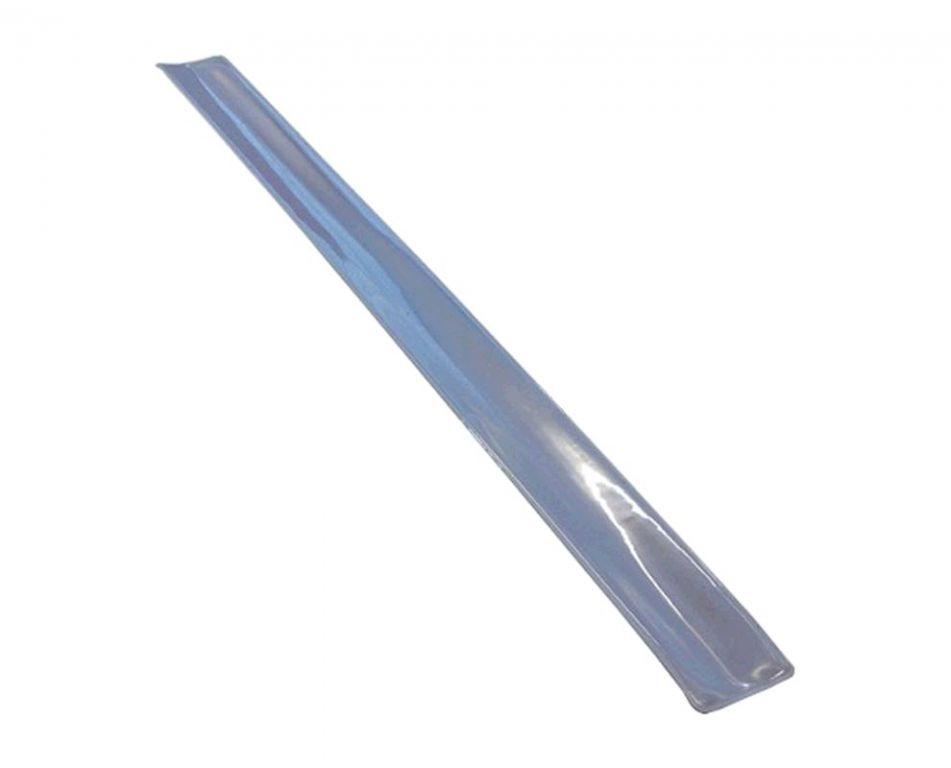 Reflexní samonavíjecí pásek stříbrná