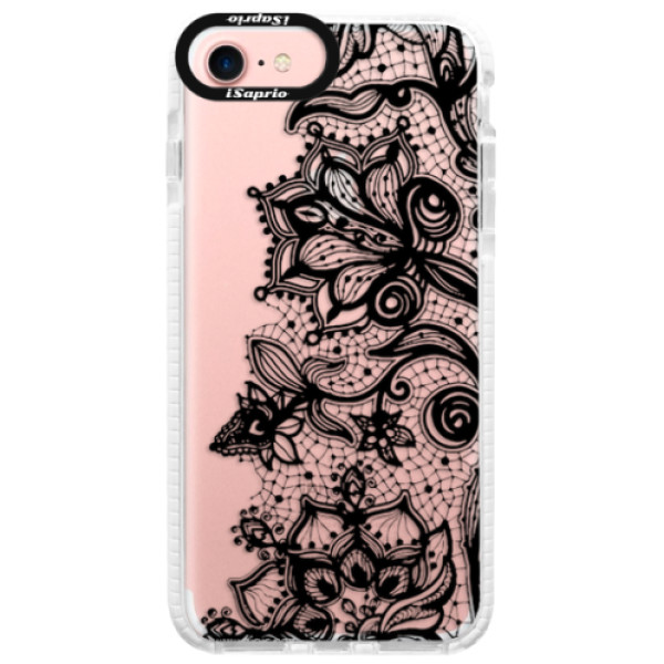 Silikonové pouzdro Bumper iSaprio - Black Lace - iPhone 7